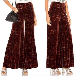 NWT Free People Lovin Feeling Wide Leg Velvet Pant
